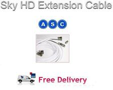 2m Freesat HD Extension Cable in white, Sky HD Extension Cable Lead