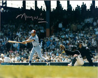 MAURY WILLS MONTREAL EXPOS SIGNED AUTOGRAPHED 8X10 PHOTO W/COA