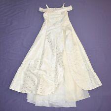 Shiny Blossoms On Beige Children Dress 152 Flower Girl Communion Gala Dress