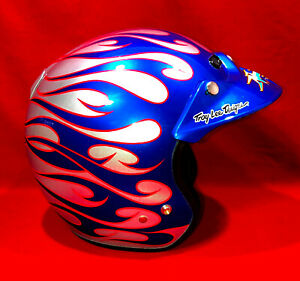 Helmet, Troy Lee Designs, Neeley Racing Sponsored Open-Face Helmet, Blue/Red/Sil