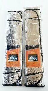 2 x Auto Windshield Sun Shade Car Cover**both side aluminum** Reflective Silver