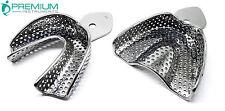 2 Pcs Impression Large Tray Set Upper & Lower Dental Surgical Instruments