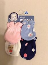 Gerber Infant Girls Mittens 0-3 Months Set of 4