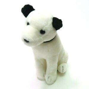 "Vintage 1980 Dakin RCA Nipper Dog 12"" Plush Sitting White Stuffed Animal"