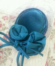 Vintage teal blue green hat wedding 1940s 1950s retro reenactment wartime ww2