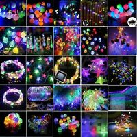 Colorful Solar/Battery/Plug 1M-50M 10-500 LED Fairy String Lights Xmas Party