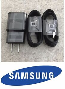 NEW OEM Original 2x Samsung Galaxy S9 S9 Plus S8 4FT Type-C Cable & Wall Charger