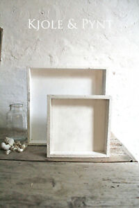 Dekoplatte Dekotablett 15 - 30 cm Holz Teller Tablett  Deko Shabby Vintage weiß