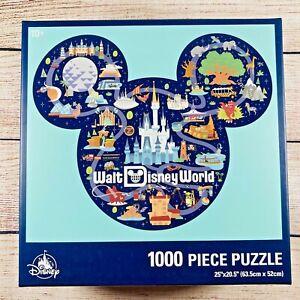 Disneyland Mickey Mouse Icon Walt Disney World Park Map Puzzle - 1000 Pieces