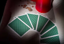 "King ""Classic"" 100% Plastic Playing Cards Green Deck - Bridge Size - Jumbo Index"