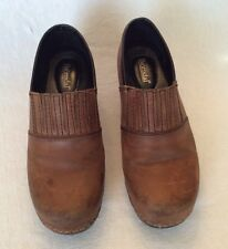 Bjorndal Brenda Women's Brown Leather Shoes Clogs Style 136478 Size 8.5