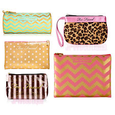 Too Faced Teddy Bear Chocolate Bar Makeup Bags for Brush & Palette Travel Cases