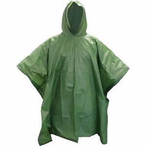 TAS Olive OD Rain Poncho Vinyl Rain cover Compact Lightweight PVC