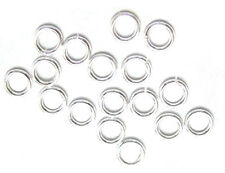 100 Silver Plated Open Jump Rings 6MM 20 Gauge