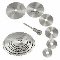 7Pcs Mini HSS Saw Disc Wheel Circular Cutting Blades Mandrels Drills Rotary Tool