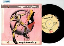 """ROGER TAYLOR - MY COUNTRY - 7"""" inch vinyl single UK - queen freddie signed lp"""