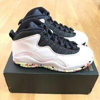 Nike Air Jordan 10 Retro SE GS Size 6.5Y White Barley Volt Black