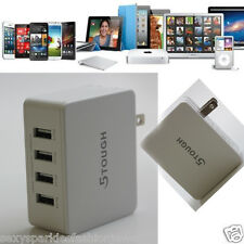 5 Tough 34W/5V 4-Port Portable Multiple USB 3.0 Wall Charger Travel Power USA
