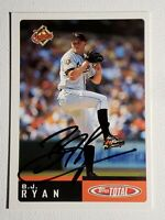 2002 Topps Total BJ Ryan Auto Autograph Card Orioles Signed #727