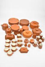 Honiton Pottery Devon Terracotta Colour Stoneware 104x Piece Dinnerware Set