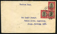 BRITISH SOUTH AFRICA to ARGENTINA cover 1939 BRAND FORT cancel
