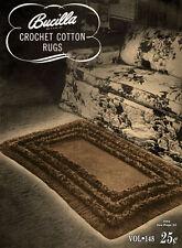 Bucilla #148 c.1947 - Crochet Cotton Rugs, Vintage Patterns For Home Decor