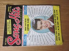 1956 Song Hits magazine January issue Sanford Clark on cover Elvis Presly story