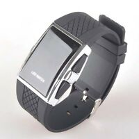 Black Digital LED Display Time and Date Men's Wrist Watch