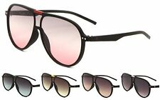 Wholesale 12 Pair Plastic Aviator Sunglasses with Accent Color Top Bar