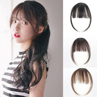 Thin Air Bangs Mini Wig Hairpiece Hair Extensions Clip Fringe Front Hair Acces