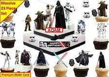 STAR WARS Cup Cake Scene Toppers Premium Wafer Edible STAND UP *PERSONLISE*