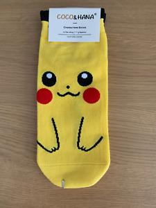 New Womens / Ladies Pokemon Style Socks Pikachu *UK STOCK*