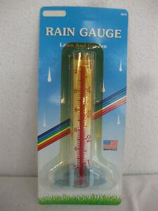 NOS Vintage Acu-rite RAIN GAUGE w/GLASS TUBE Made in USA