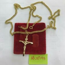 Gold Authentic  18k gold cross necklace 20 inches chain,,