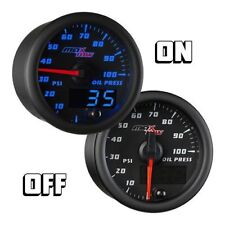 MaxTow 52mm Black Max Double Vision Oil Pressure Gauge - MT-BDV04