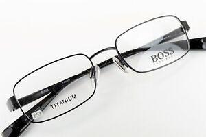 HUGO BOSS HB11098 BK Satin Black 50-18-140 Eyeglass Frames Flex Hinges Z53