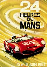 More details for reproduction motor racing poster,