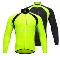 Men Women Cycling Jersey Long Sleeve Bike Bicycle Shirt Thermal Clothing Top