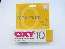 OXY 10 MAX Mentholatum Acne Pimple Cream Medication 10% Benzoyl Peroxide 25g