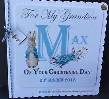 PERSONALISED CHRISTENING CARD BOYS OR GIRLS BIRTHDAY GODDAUGHTER/ GODSON/ NEW