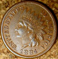 1884 Indian Head Cent - ATTRACTIVE EXTRA FINE, EXACTLY AS SHOWN (M113)