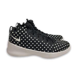 Nike Hyperfr3sh Men's Black White Polka Dot Canvas Basketball Shoes Size US 13