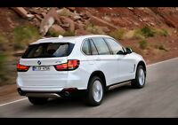 2014 BMW X5 REAR NEW A2 CANVAS GICLEE ART PRINT POSTER FRAMED