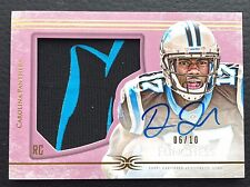 #/10 Devin Funchess 2015 Topps Definitive Collection Pink Auto patch RC #10