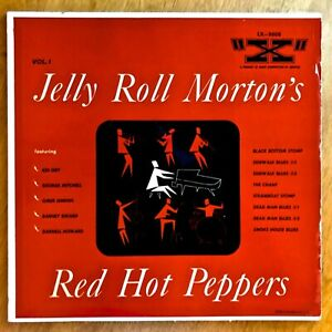 """JELLY ROLL MORTON""""S RED HOT PEPPERS, Vol. 1. -  """"X"""" LX-3008, 10"""" LP"""