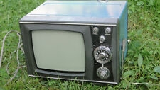 VINTAGE RARE SOVIET USSR  PORTABLE EARLY B & W  ANALOG TV