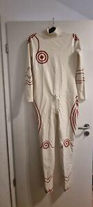 Anzug Catsuit Body Latex Herren Frauen Rubber Weiß L/XL