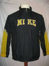 Vintage 90' Ancienne VESTE NIKE JUSTE DO IT SURVÊTEMENT NOIR & JAUNE Jacket