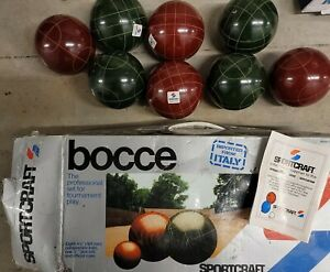 Lot of 8  Sportscraft Bocce Balls