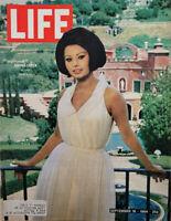 Life Sept 18 1964 Vtg Magazine Sophia Loren New Villa - Goldwater - Arabia - VG